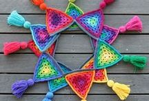 Crochê - granny squares, afghan, ripple, mandalas, flores e muitas cores