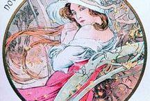 Mucha Alfons / magnifiques créations , dessins , peintures , publicités .... une époque très riche en idées et artistes ...