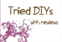 Tried DIY's & Reviews  / I'm not one of these people who pin and not try. If I pin it, I eventually want to make it, so these are all the things that we've made and little reviews about them. Some things are from my blog, and some are link I've found from Pinterest.
