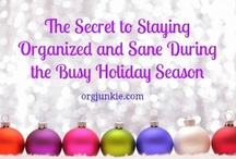 ORGANIZED HOLIDAYS / Organized holidays, holiday organization, holiday planner