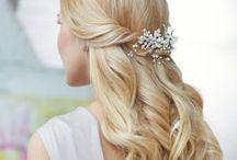 Bridal Hair - Half Up  / wedding hair - half up