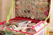 ORGANIZED CRAFTS / Everything you need to neatly organize your crafts, sewing supplies and small scrapbooking items