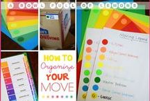 ORGANIZED MOVING / How to get organized for the big move. Tips and tricks to make moving easier