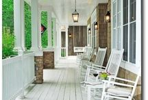 .:verandas:. / Front porch, back porch, front door, welcome home, wrap-around veranda. All about the space around and adjacent to my someday home.  / by Kate