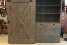 Barn Door  Cabinets / One of our most loved furniture pieces, the barn door entertainment cabinet. See more of them in our furniture gallery! www.furniturefromthebarn.com