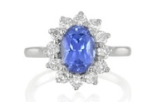 """Princess Diana Style Rings / In 1981, all eyes of the world focused on the sapphire and diamond engagement ring given by Prince Charles to Princess Diana. At The Natural Sapphire Company, our """"Princess Diana Style"""" rings are not exact reproductions, but rather undeniably beautiful examples of the classic design using exceptional sapphires and rubies. As unique as the ring was for Princess Diana, so can be the uniqueness of the ring for your own fairy tale wedding."""
