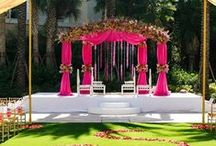Indian Wedding Ceremony / Various decor themes for our Indian wedding ceremony.