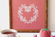 Sew French Patterns / Cross Stitch Patterns Inspired By Vintage French Linens. Roses are my muse.