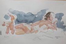 Schramm's nude sketches