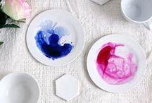DIY: Keramik / Ob mit Nagellack oder Porzellanmarker, es gibt unzählige Möglichkeiten um schlichtes Porzellan und Keramik-Fundstücke im Handumdrehen zu verzieren.