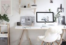 WORK IT | inspiration for office and workspaces / Inspiration for my workspace. I wish Pinterest was a button that made things into reality.