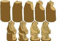 Chainsaw carving patterns instructions free / How Chainsaw Carving a Bear owl Eagle rooster squirrel  mushroom cat ... http://www.sculpturesurbois.info/