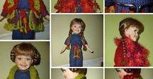 LALKI - moje wzory ubrań - Elistaart / Doll, knitting/crochet, Paterns, My ideas, Clothes