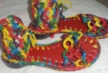 Ręcznie zrobione dla stóp / sandały, kapcie, botki i co tam sobie można wymarzyć z włóczki