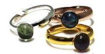Rings & Things inspiration / Mix&Match inspiratie voor u! Ringen in Sterling zilver, Vermeil en Gold filled waarbij u zelf de edelstenen kunt kiezen. Te bestellen op: www.ilonaswebgems.nl