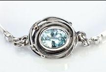 Our Zuda bracelets  / All handmade with fairtrade precious stones