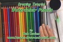Tutorial - Watercolor Pencils, Crayons / Watercolors / by Falling-Star.com