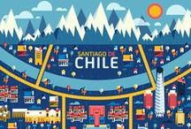 Illustrated Maps / illustrated maps of places across the world