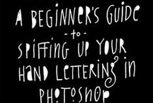 Explain It to Me / Tutorials and Infographics for mostly for letter- and typography-related things
