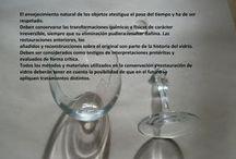 Restauración objetos de vidrio / Proceso de restauración de una copa de vidrio