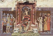 Képes Krónika / Selected illustrations from the Chronica de Gestis Hungarorum of Mark Kálti  Képes Krónika, Hungary, c.1360