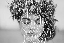 Typography on Photo / Hand-Lettering, Typography and Text on Photo