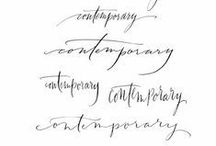 Modern Calligraphy / A specific style of calligraphy, mostly a very loose version of the more classical copperplate style. Used a lot for wedding invitations and such. It all looks elegant at first, but as with everything you can see huge differences in quality and skill level.