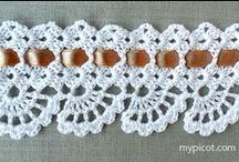 crochet border / crochet, border, pattern, кайма вязанная крючком