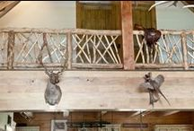 Rustic stairs and railings