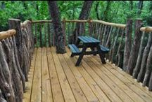 Rustic Outdoor Elements / We create custom-made rustic elements for any garden or yard space. Our handmade arbors, gates, entryways and even tree houses add the perfect touch to any outdoor space.