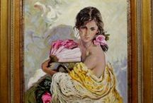 Spanish Fine Art - Paintings of figures of women / Check out our catalog of figures of women. In our online art gallery we sell oil paintings and art at the best price. We specialize in Spanish artists. www.sorolla.com
