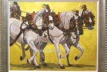 Spanish Fine Art - Horses and coaches