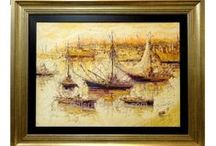 Seascapes, boats and harbour paintings / Check out our seascape paintings. In our online art gallery we sell oil paintings and art at the best price. We specialize in Spanish artists.