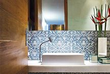 Bathroom / Ideas + textures + colors
