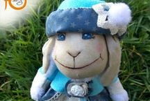 Handmade plushes & dolls /  About sheeps from textile and little girls