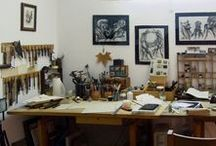 The Bookbinding Studio / Sneak peek into TeoStudio's work space. It is located in the historic city of Évora, Portugal.