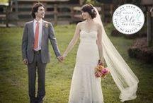 "A Long Island Wedding: Ashley & Jordan / Congrats to Ashley & Jordan! Ashley chose Michelle New York Brides' ""Waverly"" gown, accessorized with a beautiful silk sash & Swarovski crystal & pearl vine hair pin."
