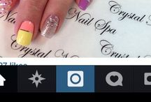 My Nails / Pictures of my own actual nails which I get done at @crystalnailspainc on Instagram.  If u love my nails please go and like them on their Instagram page.  They are amazing artists!
