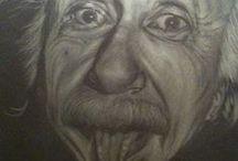 Retrato de persona favorita, homenaje a lápiz blanco sobre negro. / Retrato de artista favorito homenaje a lápiz blanco sobre negro mate.