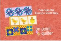 On Point Quilter Videos and Tutorials / Link to various Videos and Tutorials created by Kari Schell.  Topics include Electric Quilt, Art and Stitch and use of quilting tools.