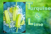 ☆҉ Turquoise and Lime