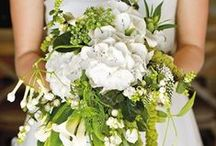 Bouquets / A bridesmaid and bride's bouquets are such a dramatic part of the wedding. The are there with you every step of the isle. Choose flowers true to your theme or color scheme!