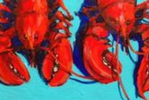 turquoise and lobster red / my favorite color combo