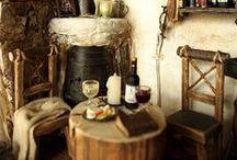 Rustic & primitive interiors❀