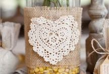Burlap projects ❀