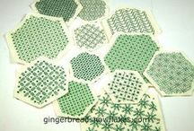 needle craft & EPP (hexies plus!) / includes hand sewing type crafts most especially English Paper Piecing.