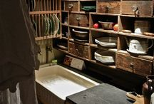 Scullery / Scullery's options for storage... The working space