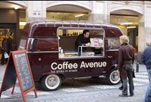 Mobile coffee trucks and carts