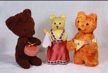 я ПОИСК медведь с барабаном / Поиск игрушек, детских книг и настольных игр СССР -  http://doska-obyavleniy-detstva.blogspot.ru/ (медведь, мишка, механический, заводной, 1950, 50, с барабаном, барабанщик)