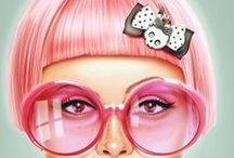 Extrem color hair / Pink, Rose,Blu.....